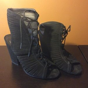 Mia Lace Up Booties/Heels